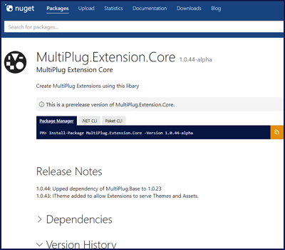 Nuget MultiPlug.Extension.Core