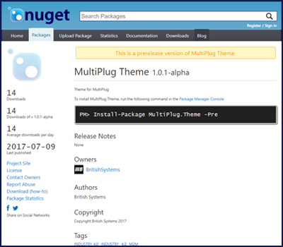 Nuget MultiPlug.Theme
